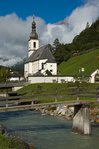 Ramsau church near  