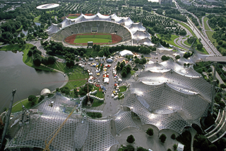 Munich's Olympic grounds from the TV Tower, 2000